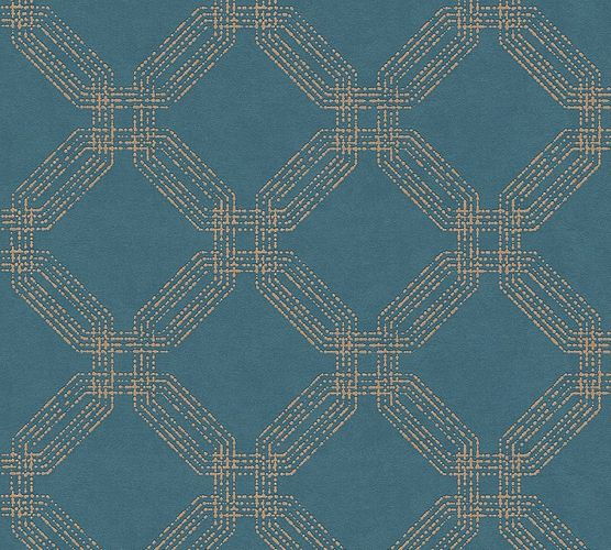 Non-woven wallpaper graphic modern blue 37477-3 | 374773