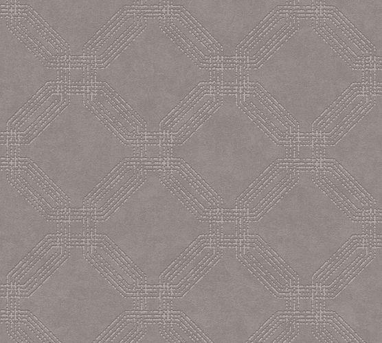 Non-woven wallpaper graphic modern dark taupe 37477-4 | 374774