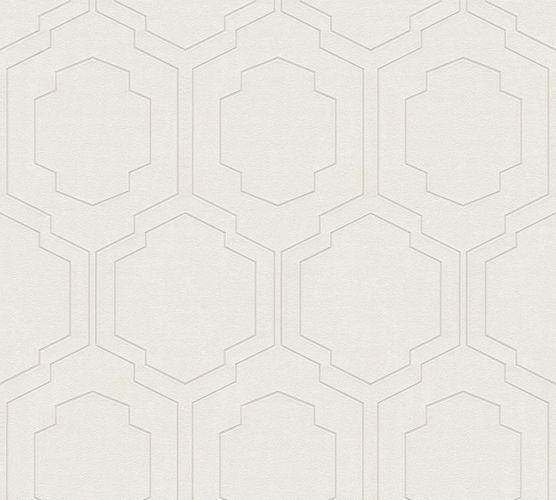 Non-woven wallpaper tiles white silver 37479-1 | 374791 online kaufen