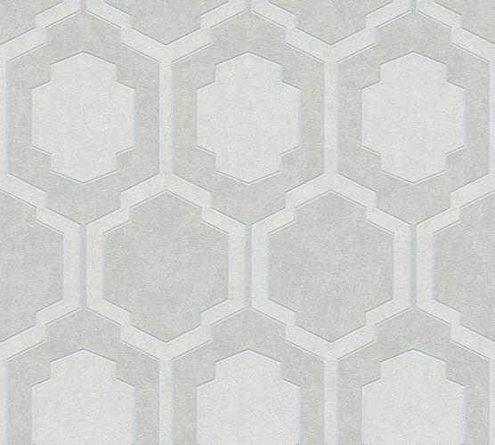 Non-woven wallpaper tiles greige white 37479-2 | 374792 online kaufen