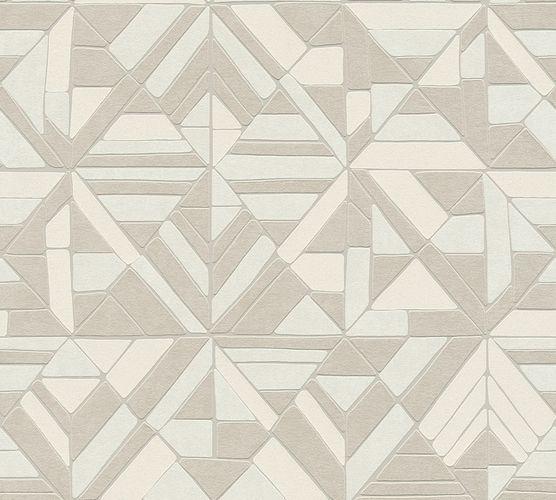 Non-woven wallpaper graphical forms silver 37481-2