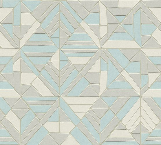 Non-woven wallpaper graphical forms silver 37481-3 online kaufen