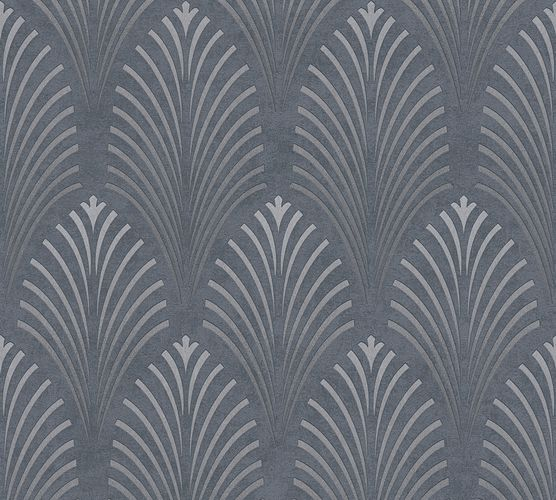 Non-woven wallpaper art deco pattern anthracite 37482-2