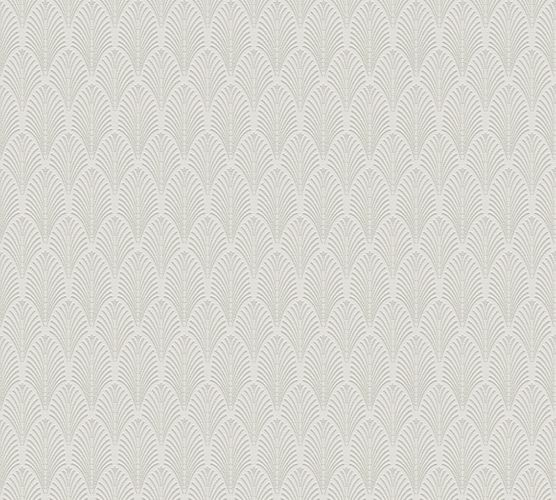 Non-woven wallpaper art deco white 37484-1 | 374841