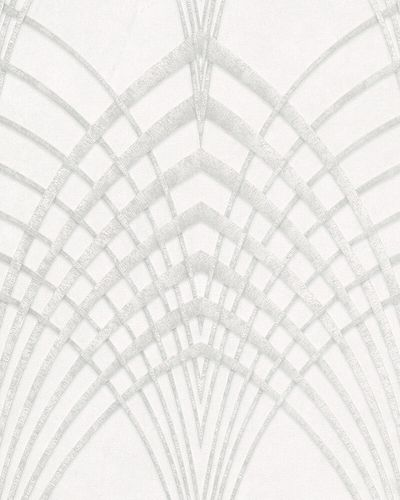 Non-Woven Wallpaper Art Deco Design grey white 32277