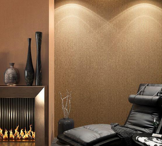 Non-Woven Wallpaper Stripes Structure bronze gold 32263 online kaufen