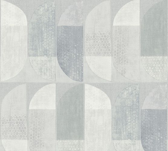 Non-Woven Wallpaper Graphic Semicircle grey 37531-5 online kaufen