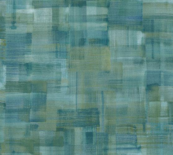 Non-Woven Wallpaper Wipe technique green blue 37532-1 online kaufen