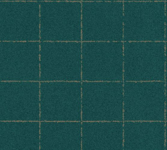 Wallpaper non-woven checkered darkgreen 37551-1 | 375511 online kaufen