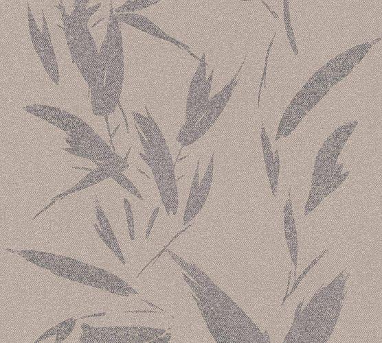 Vliestapete Blätter beige silber 37549-3 | 375493
