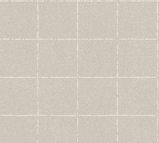 Wallpaper non-woven checkered creambeige 37551-4|375514 online kaufen