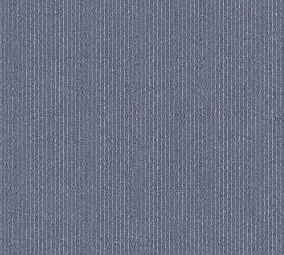 Wallpaper non-woven fine stripes darkgrey 37550-1|375501
