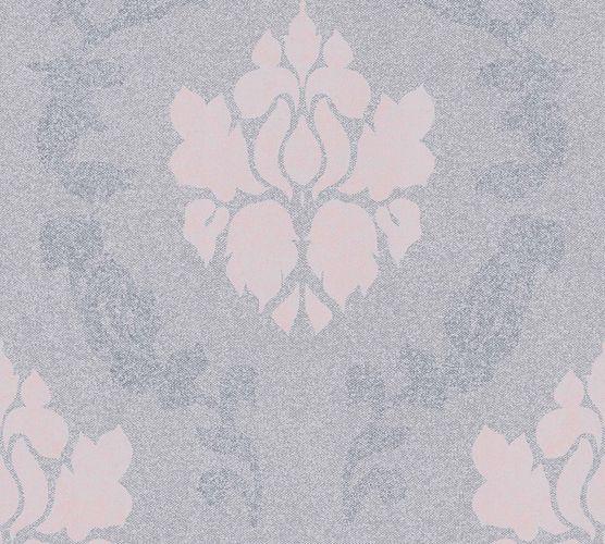 Vliestapete Barock grau rosa 37552-3 | 375523