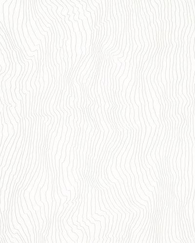 Non-woven wallpaper waves white grey 31831 online kaufen