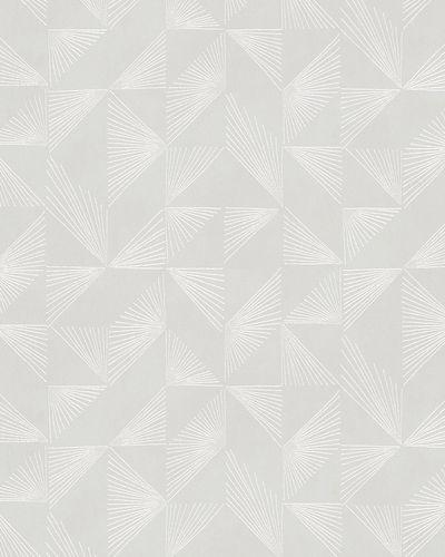 Non-woven wallpaper geomatrical grey silver 31842 online kaufen