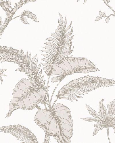 Non-woven wallpaper botanical white beige 31845 online kaufen