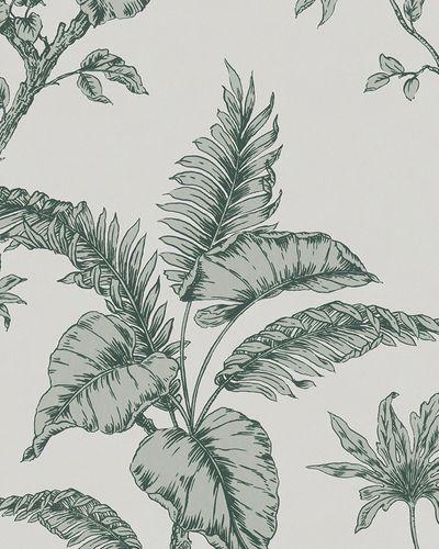 Non-woven wallpaper botanical grey green 31846 online kaufen
