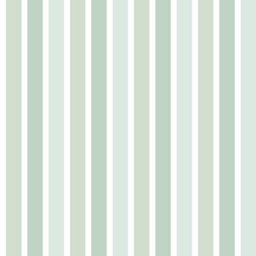 Non-woven wallpaper stripes white green 072075
