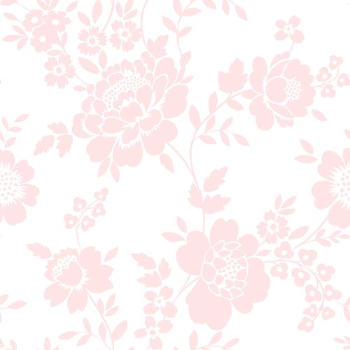 Non-woven wallpaper floral white rose 072051 online kaufen