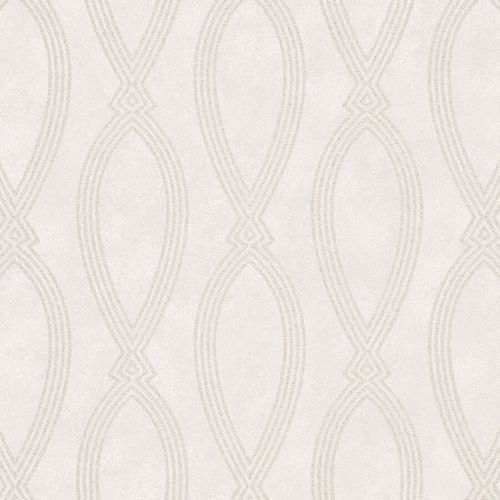 Non-Woven Wallpaper Ikat Graphic cream metallic 84847