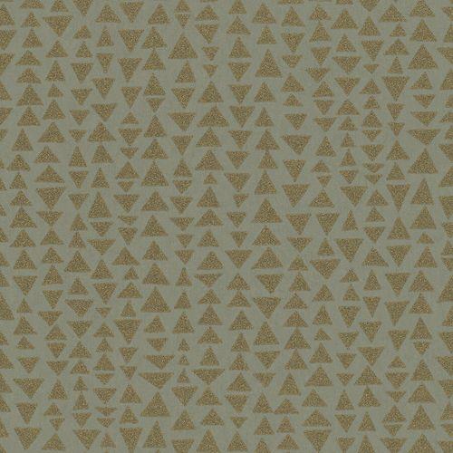 Non-Woven Wallpaper Triangles platin gold metallic 84859