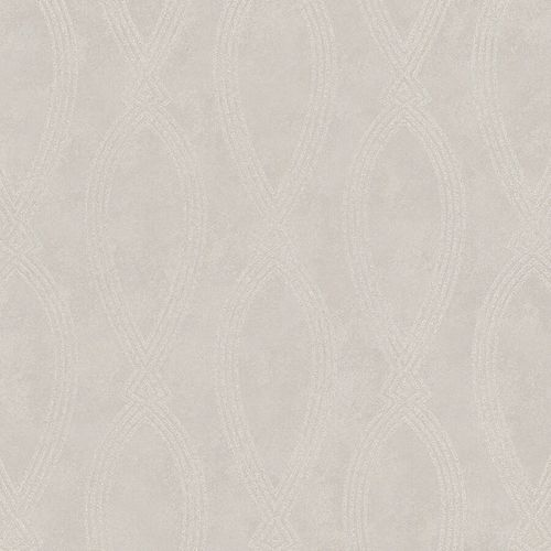 Non-Woven Wallpaper Ikat Graphic beige metallic 84860