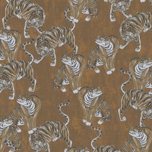 Vliestapete Marburg Tiger braun weiß metallic 84867
