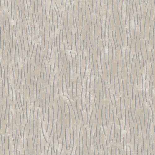 Non-Woven Wallpaper Strokes beige grey metallic 84875