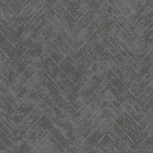 Non-Woven Wallpaper Zig-Zag Line grey metallic 84880