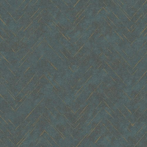 Non-Woven Wallpaper Zig-Zag Line green metallic 84884