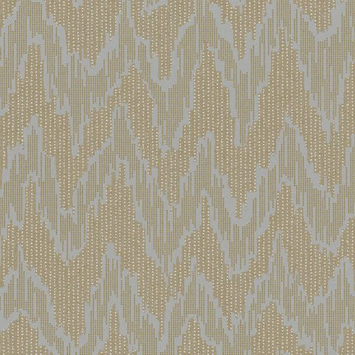 Non-Woven Wallpaper Zig-Zag Abstract gold 84895