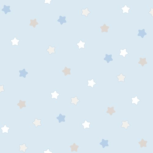 Kids paper wallpaper asterisk blue white 102251