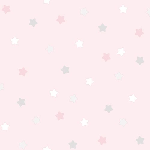 Kids paper wallpaper asterisk rose white grey 102252