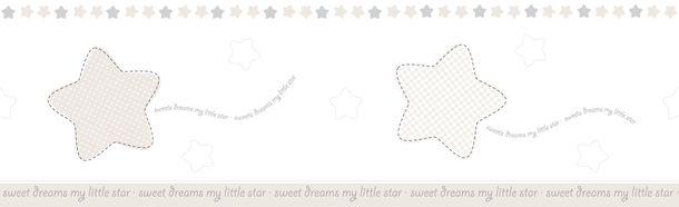 Kids self-adhesive border star white light brown 102443 online kaufen