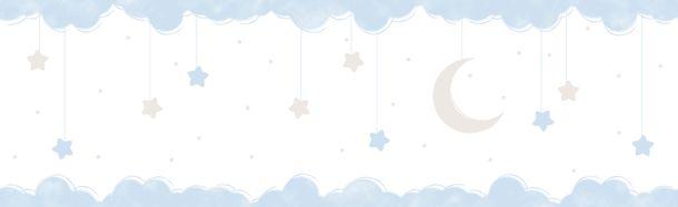 Kids self-adhesive border crescent blue white 102411 online kaufen