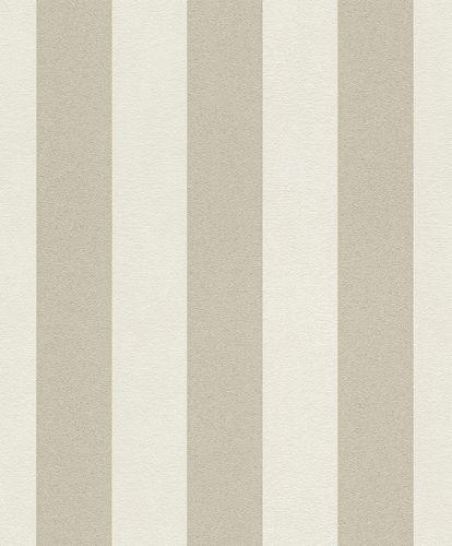 Vliestapete Streifen weiß creme Glitzer 542318