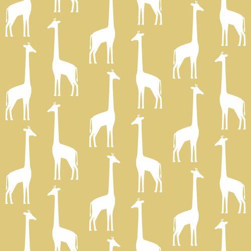 Kinderzimmer Vliestapete Giraffen gelb weiß 139059