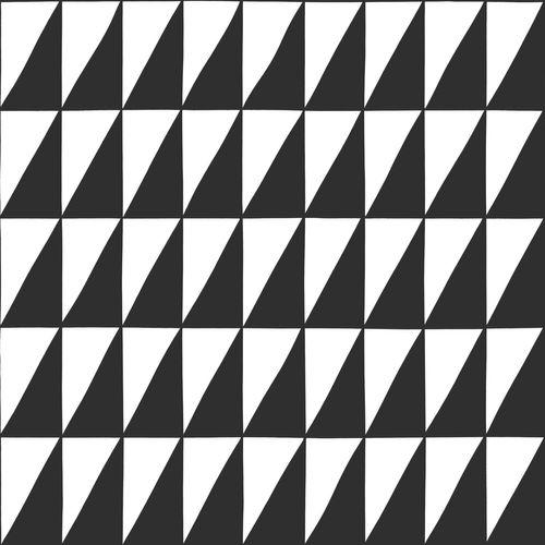 Kinderzimmer Vliestapete Zick Zack schwarz weiß 139077