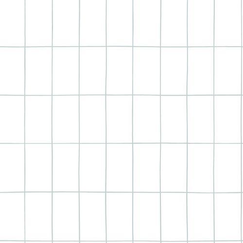 Kinderzimmer Vliestapete Kariert weiß grün 039029