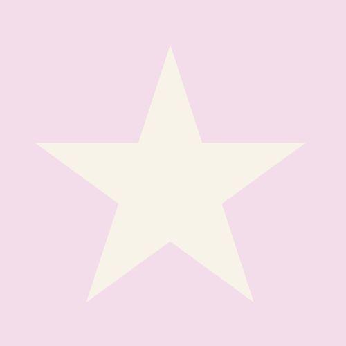 Kinder Vliestapete Stern rosa silber Glanz 346827