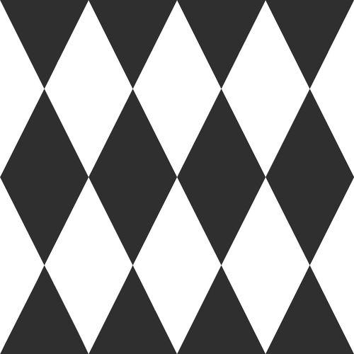 Kinder Vliestapete Karo weiß schwarz 347670