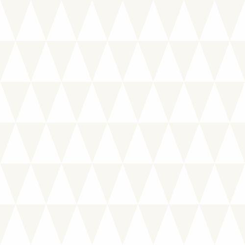 Kids non-woven wallpaper triangles white silver 347695