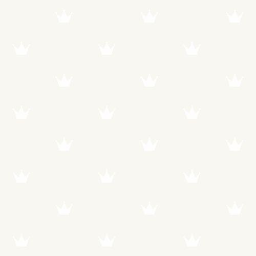 Kids non-woven wallpaper princess silver white 347703