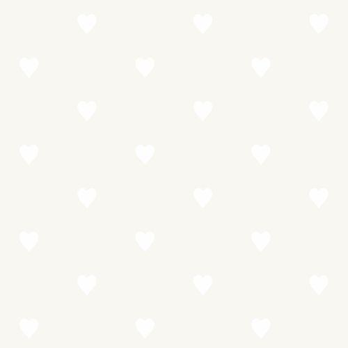 Kids non-woven wallpaper hearts silver white 347704 online kaufen