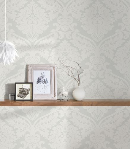 non-woven wallpaper baroque white cream Flock 4 5543-38 554338 online kaufen