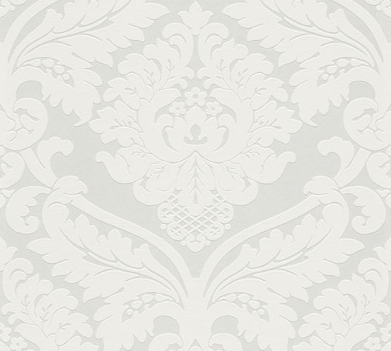 non-woven wallpaper baroque white cream Flock 4 5543-38 554338