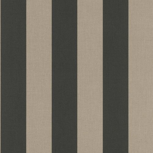 Non-woven wallpaper stripes greige black 542769