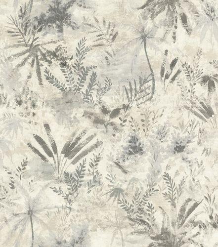Non-woven wallpaper floral cream grey 543018 online kaufen