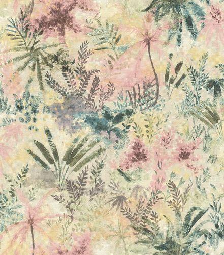 Non-woven wallpaper floral bunt 543032 online kaufen