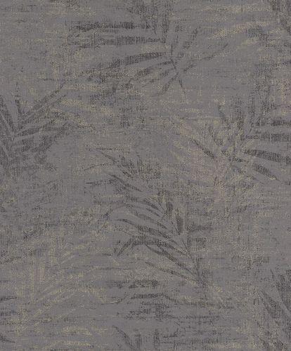 Non-woven wallpaper fern anthracite silver 546620 online kaufen